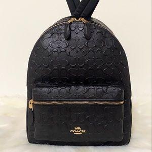 NEW💃Coach Signature Leather Backpack Designer Bag